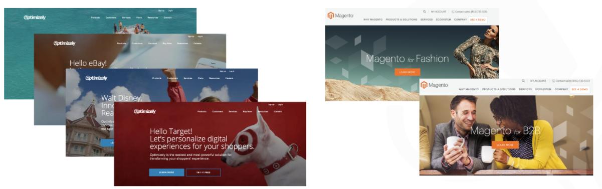 visual screenshots of abm personalized accounts
